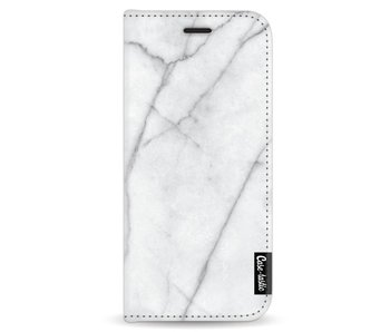 White Marble - Wallet Case White Samsung Galaxy S8