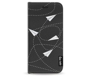 Paperplanes - Wallet Case Black Apple iPhone 6