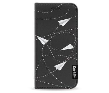 Paperplanes - Wallet Case Black Apple iPhone 5 / 5s / SE