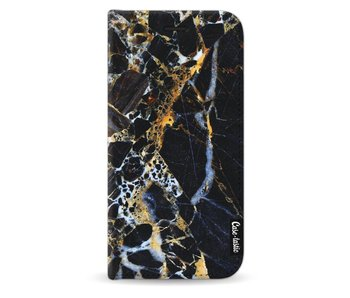 Black Gold Marble - Wallet Case Black Samsung Galaxy J3 (2017)
