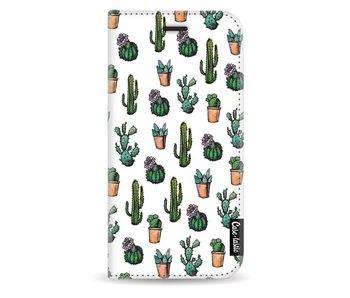 Cactus Dream - Wallet Case White Samsung Galaxy J3 (2017)
