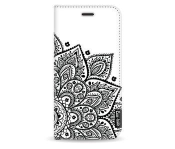 Floral Mandala - Wallet Case White Samsung Galaxy J3 (2017)