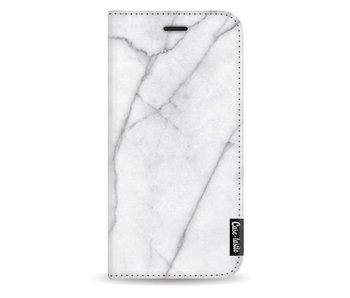 White Marble - Wallet Case White Samsung Galaxy J3 (2017)