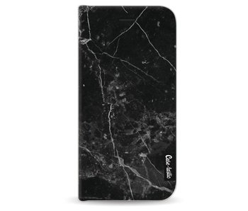 Black Marble - Wallet Case Black Apple iPhone 6 / 6S