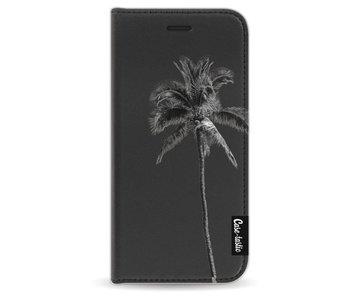 Palm Tree Transparent - Wallet Case Black Apple iPhone 6 / 6S