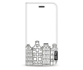 Amsterdam Canal Houses - Wallet Case White Samsung Galaxy J5 (2017)