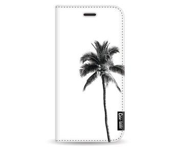 Palm Tree Transparent - Wallet Case White Samsung Galaxy J5 (2017)