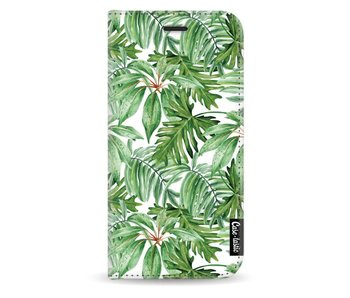 Transparent Leaves - Wallet Case White Samsung Galaxy J5 (2017)