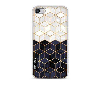 White and Navy Cubes - Apple iPhone 8