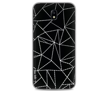 Abstract Dotted Lines Black - Samsung Galaxy J7 (2017)