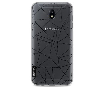 Abstract Dotted Lines Black Transparent - Samsung Galaxy J7 (2017)