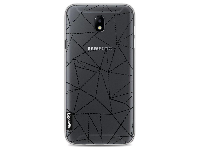 Casetastic Softcover Samsung Galaxy J7 (2017) - Abstract Dotted Lines Black Transparent