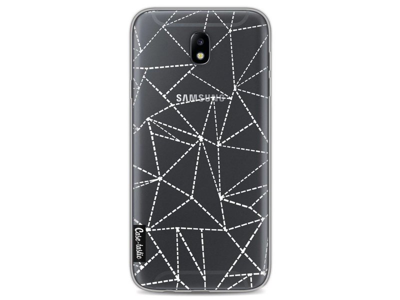 Casetastic Softcover Samsung Galaxy J7 (2017) - Abstract Dotted Lines Transparent