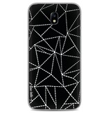 Casetastic Softcover Samsung Galaxy J7 (2017) - Abstract Dotted Lines Black