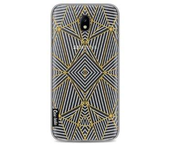 Abstraction Half Gold Transparent - Samsung Galaxy J7 (2017)