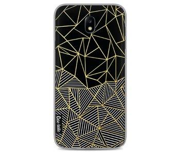 Abstraction Half Half Gold - Samsung Galaxy J7 (2017)