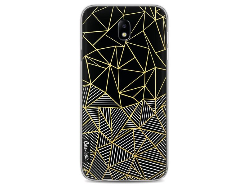 Casetastic Softcover Samsung Galaxy J7 (2017) - Abstraction Half Half Gold