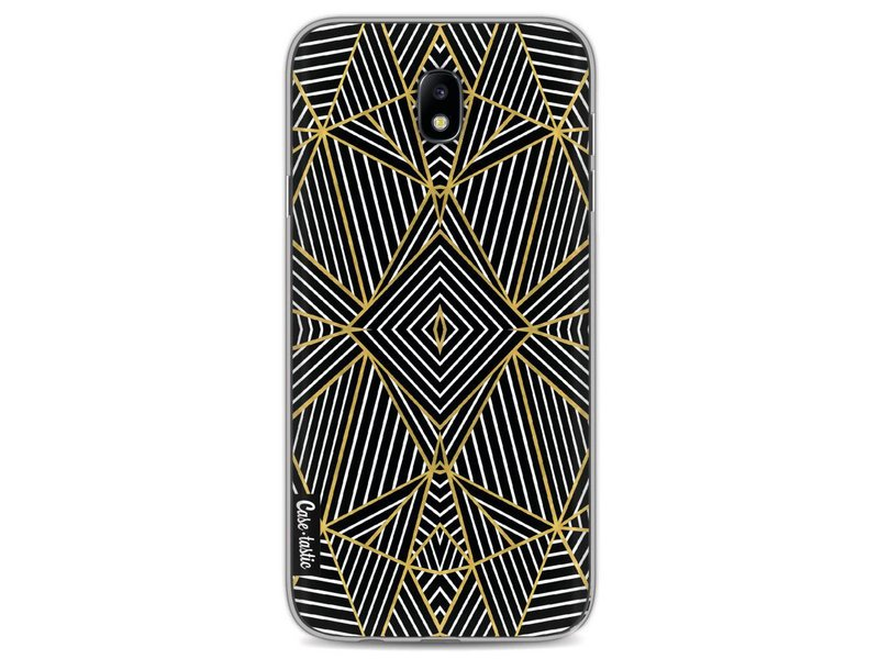 Casetastic Softcover Samsung Galaxy J7 (2017) - Abstraction Half Gold