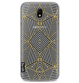 Casetastic Softcover Samsung Galaxy J7 (2017) - Abstraction Half Gold Transparent