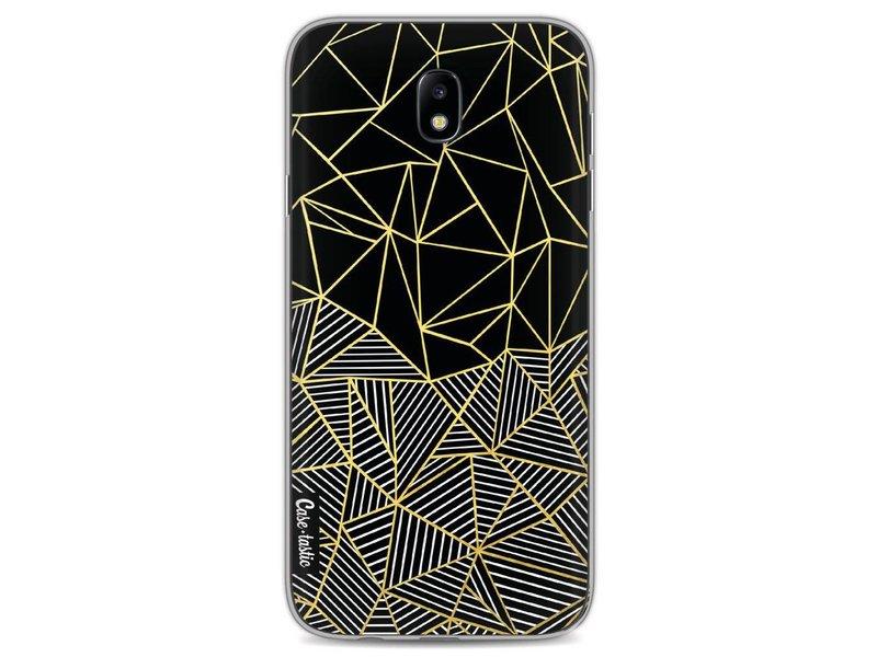 Casetastic Softcover Samsung Galaxy J7 (2017) - Abstraction Half Half Gold