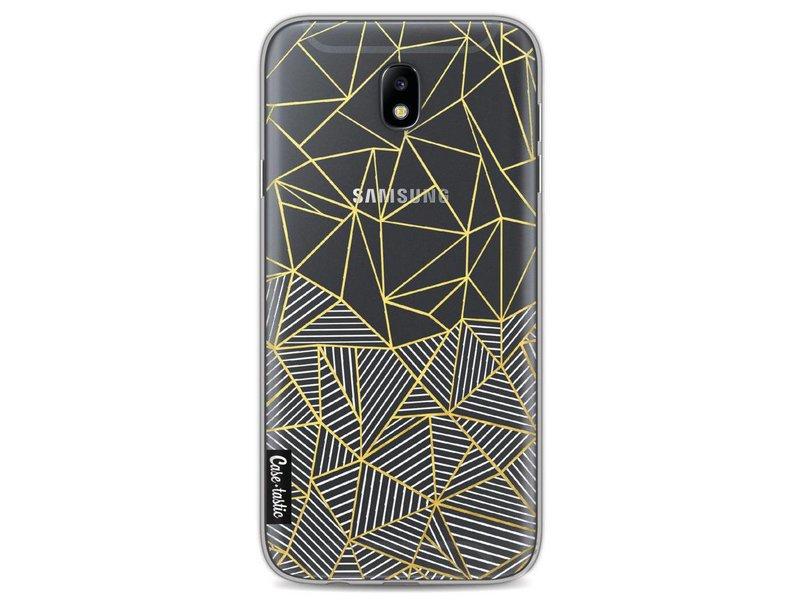 Casetastic Softcover Samsung Galaxy J7 (2017) - Abstraction Half Half Transparent