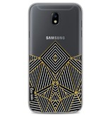 Casetastic Softcover Samsung Galaxy J7 (2017) - Abstraction Half Transparent