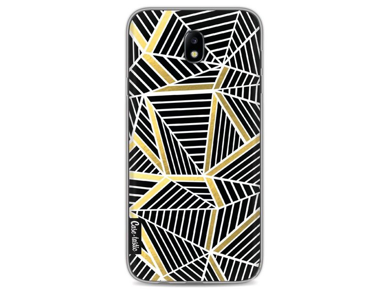 Casetastic Softcover Samsung Galaxy J7 (2017) - Abstraction Lines Black Gold