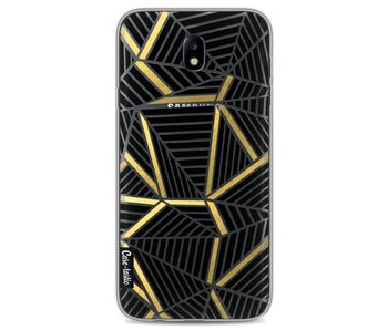 Abstraction Lines Black Gold Transparent - Samsung Galaxy J7 (2017)