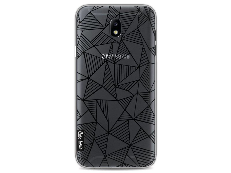 Casetastic Softcover Samsung Galaxy J7 (2017) - Abstraction Lines Black Transparent