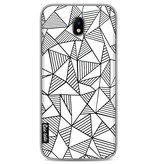 Casetastic Softcover Samsung Galaxy J7 (2017) - Abstraction Lines White
