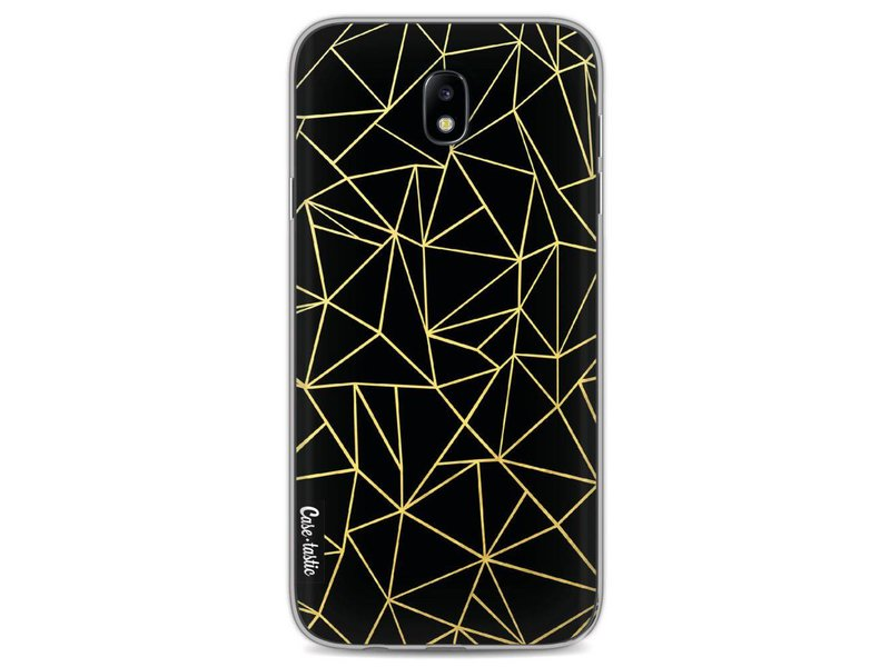 Casetastic Softcover Samsung Galaxy J7 (2017) - Abstraction Outline Gold