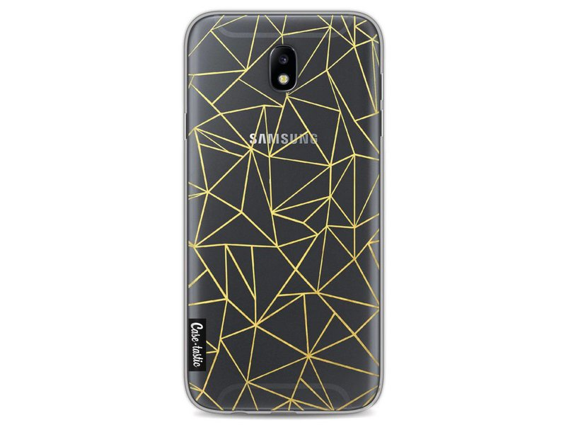 Casetastic Softcover Samsung Galaxy J7 (2017) - Abstraction Outline Gold Transparent