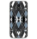 Casetastic Softcover Samsung Galaxy J7 (2017) - Art Deco Blue