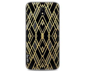 Art Deco Gold Black Transparent - Samsung Galaxy J7 (2017)