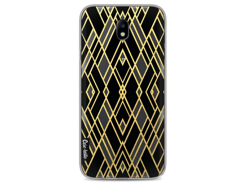 Casetastic Softcover Samsung Galaxy J7 (2017) - Art Deco Gold Black Transparent