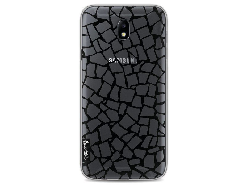 Casetastic Softcover Samsung Galaxy J7 (2017) - British Mosaic Black Transparent