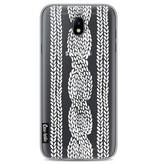Casetastic Softcover Samsung Galaxy J7 (2017) - Cable Row Transparent