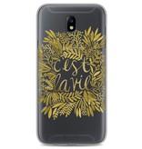 Casetastic Softcover Samsung Galaxy J7 (2017) - Cest La Vie Gold