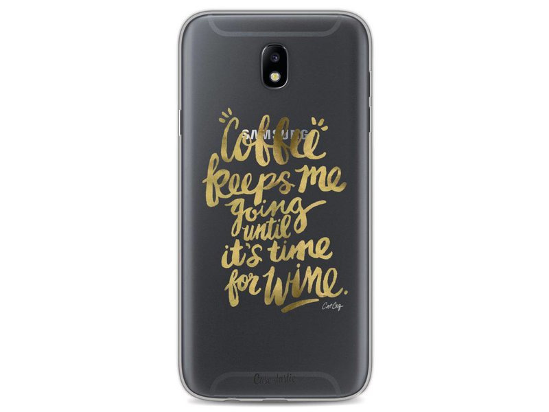 Casetastic Softcover Samsung Galaxy J7 (2017) - Coffee Wine Gold