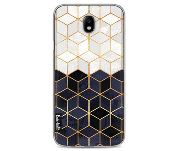 White and Navy Cubes - Samsung Galaxy J7 (2017)