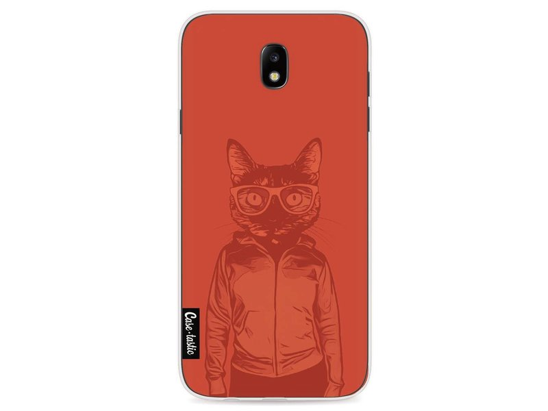 Casetastic Softcover Samsung Galaxy J7 (2017) - Cool Cat 2 Transparent