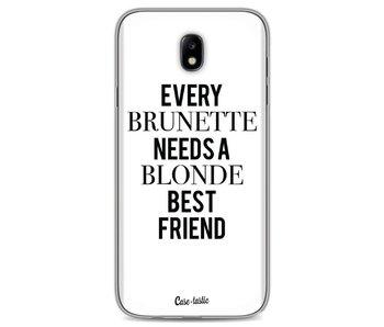 Every Brunette Needs A Blonde White - Samsung Galaxy J7 (2017)