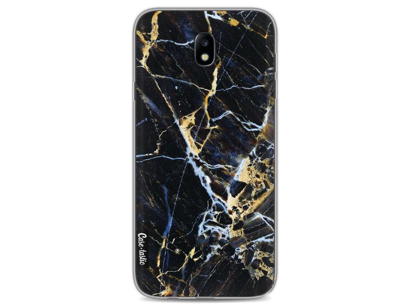 Casetastic Softcover Samsung Galaxy J7 (2017) - Black Gold Marble