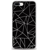 Casetastic Softcover Apple iPhone 8 Plus - Abstract Dotted Lines Black