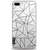 Casetastic Softcover Apple iPhone 8 Plus - Abstract Dotted Lines Black Transparent