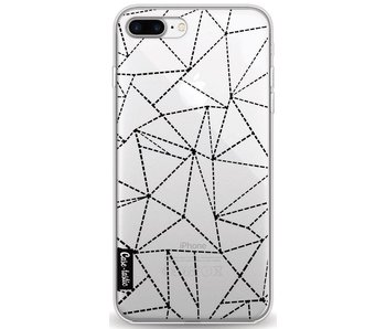 Abstract Dotted Lines Black Transparent - Apple iPhone 8 Plus