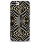 Casetastic Softcover Apple iPhone 8 Plus - Abstraction Half Gold