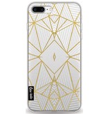Casetastic Softcover Apple iPhone 8 Plus - Abstraction Half Gold Transparent