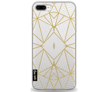 Abstraction Half Gold Transparent - Apple iPhone 8 Plus
