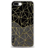 Casetastic Softcover Apple iPhone 8 Plus - Abstraction Half Half Gold